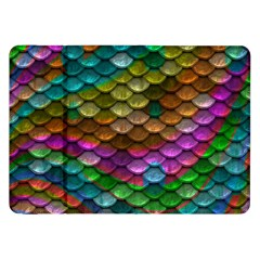 Fish Scales Pattern Background In Rainbow Colors Wallpaper Samsung Galaxy Tab 8 9  P7300 Flip Case