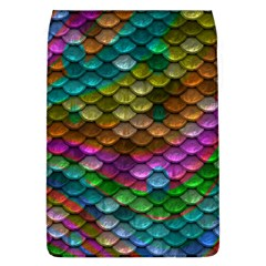 Fish Scales Pattern Background In Rainbow Colors Wallpaper Flap Covers (L)