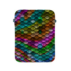 Fish Scales Pattern Background In Rainbow Colors Wallpaper Apple iPad 2/3/4 Protective Soft Cases