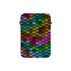 Fish Scales Pattern Background In Rainbow Colors Wallpaper Apple iPad Mini Protective Soft Cases
