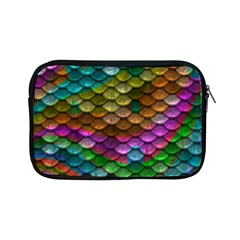 Fish Scales Pattern Background In Rainbow Colors Wallpaper Apple iPad Mini Zipper Cases
