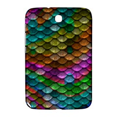 Fish Scales Pattern Background In Rainbow Colors Wallpaper Samsung Galaxy Note 8 0 N5100 Hardshell Case