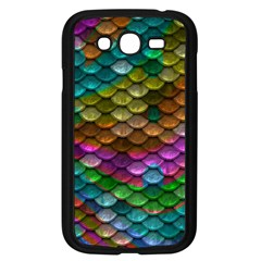 Fish Scales Pattern Background In Rainbow Colors Wallpaper Samsung Galaxy Grand Duos I9082 Case (black)
