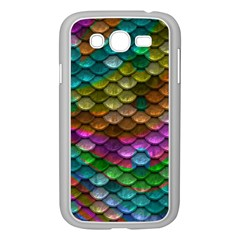 Fish Scales Pattern Background In Rainbow Colors Wallpaper Samsung Galaxy Grand DUOS I9082 Case (White)