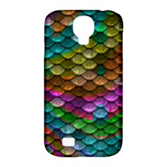 Fish Scales Pattern Background In Rainbow Colors Wallpaper Samsung Galaxy S4 Classic Hardshell Case (pc+silicone)