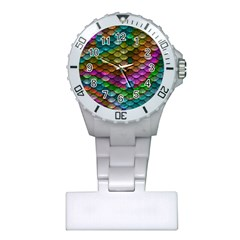 Fish Scales Pattern Background In Rainbow Colors Wallpaper Plastic Nurses Watch