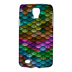 Fish Scales Pattern Background In Rainbow Colors Wallpaper Galaxy S4 Active