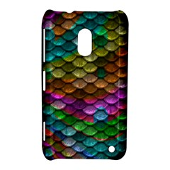 Fish Scales Pattern Background In Rainbow Colors Wallpaper Nokia Lumia 620