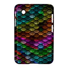 Fish Scales Pattern Background In Rainbow Colors Wallpaper Samsung Galaxy Tab 2 (7 ) P3100 Hardshell Case
