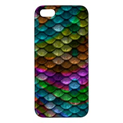 Fish Scales Pattern Background In Rainbow Colors Wallpaper Iphone 5s/ Se Premium Hardshell Case