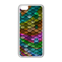 Fish Scales Pattern Background In Rainbow Colors Wallpaper Apple Iphone 5c Seamless Case (white)