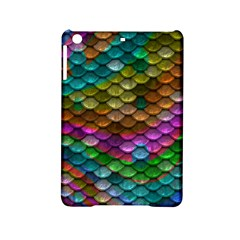 Fish Scales Pattern Background In Rainbow Colors Wallpaper Ipad Mini 2 Hardshell Cases