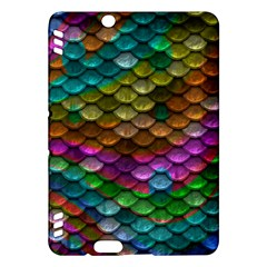 Fish Scales Pattern Background In Rainbow Colors Wallpaper Kindle Fire HDX Hardshell Case