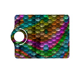Fish Scales Pattern Background In Rainbow Colors Wallpaper Kindle Fire HD (2013) Flip 360 Case