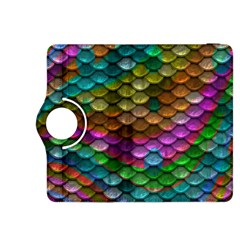 Fish Scales Pattern Background In Rainbow Colors Wallpaper Kindle Fire HDX 8.9  Flip 360 Case