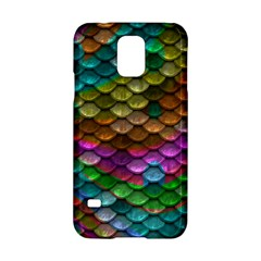 Fish Scales Pattern Background In Rainbow Colors Wallpaper Samsung Galaxy S5 Hardshell Case