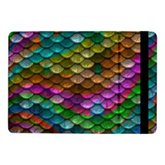 Fish Scales Pattern Background In Rainbow Colors Wallpaper Samsung Galaxy Tab Pro 10.1  Flip Case