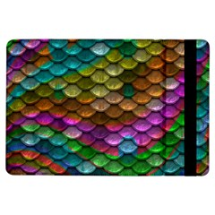 Fish Scales Pattern Background In Rainbow Colors Wallpaper Ipad Air Flip