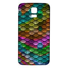 Fish Scales Pattern Background In Rainbow Colors Wallpaper Samsung Galaxy S5 Back Case (white)
