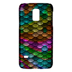 Fish Scales Pattern Background In Rainbow Colors Wallpaper Galaxy S5 Mini