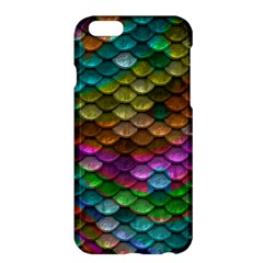 Fish Scales Pattern Background In Rainbow Colors Wallpaper Apple iPhone 6 Plus/6S Plus Hardshell Case