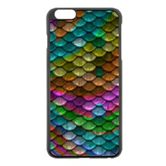 Fish Scales Pattern Background In Rainbow Colors Wallpaper Apple Iphone 6 Plus/6s Plus Black Enamel Case