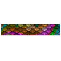Fish Scales Pattern Background In Rainbow Colors Wallpaper Flano Scarf (large)
