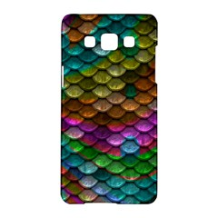 Fish Scales Pattern Background In Rainbow Colors Wallpaper Samsung Galaxy A5 Hardshell Case
