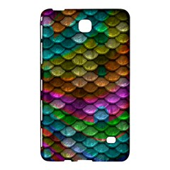 Fish Scales Pattern Background In Rainbow Colors Wallpaper Samsung Galaxy Tab 4 (8 ) Hardshell Case