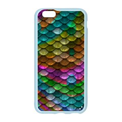 Fish Scales Pattern Background In Rainbow Colors Wallpaper Apple Seamless iPhone 6/6S Case (Color)