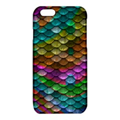 Fish Scales Pattern Background In Rainbow Colors Wallpaper iPhone 6/6S TPU Case