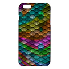 Fish Scales Pattern Background In Rainbow Colors Wallpaper Iphone 6 Plus/6s Plus Tpu Case