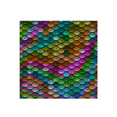 Fish Scales Pattern Background In Rainbow Colors Wallpaper Satin Bandana Scarf