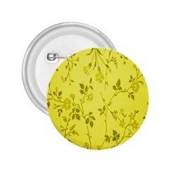 Flowery Yellow Fabric 2.25  Buttons