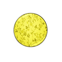 Flowery Yellow Fabric Hat Clip Ball Marker (4 Pack)