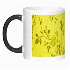 Flowery Yellow Fabric Morph Mugs