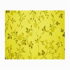 Flowery Yellow Fabric Small Glasses Cloth (2-Side)