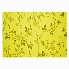 Flowery Yellow Fabric Large Glasses Cloth (2-Side)