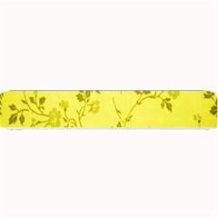 Flowery Yellow Fabric Small Bar Mats