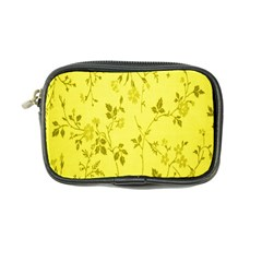 Flowery Yellow Fabric Coin Purse