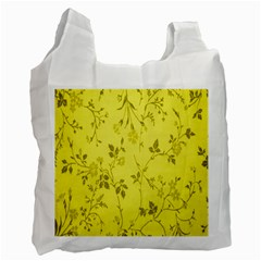 Flowery Yellow Fabric Recycle Bag (Two Side)