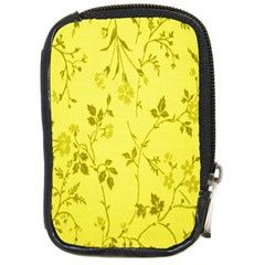 Flowery Yellow Fabric Compact Camera Cases