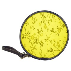 Flowery Yellow Fabric Classic 20 Cd Wallets