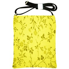 Flowery Yellow Fabric Shoulder Sling Bags