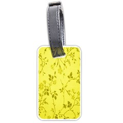 Flowery Yellow Fabric Luggage Tags (One Side)