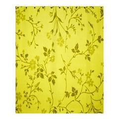 Flowery Yellow Fabric Shower Curtain 60  X 72  (medium)