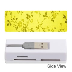 Flowery Yellow Fabric Memory Card Reader (Stick)