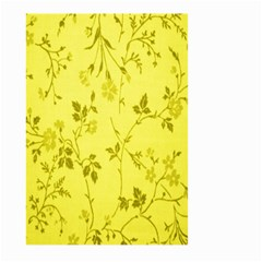 Flowery Yellow Fabric Large Garden Flag (Two Sides)