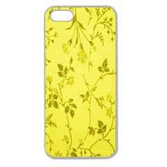 Flowery Yellow Fabric Apple Seamless iPhone 5 Case (Clear)