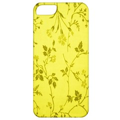 Flowery Yellow Fabric Apple Iphone 5 Classic Hardshell Case